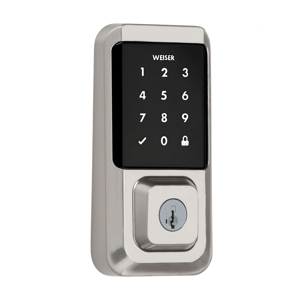 Front view of a Obsidian touchscreen lock