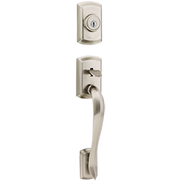 Single Cylinder Deadbolt featuring SmartKey in Satin Nickel and other deadbolts