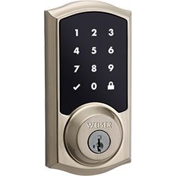 SmartCode 10 Touchscreen deadbolt in satin nickel and other electronic locks