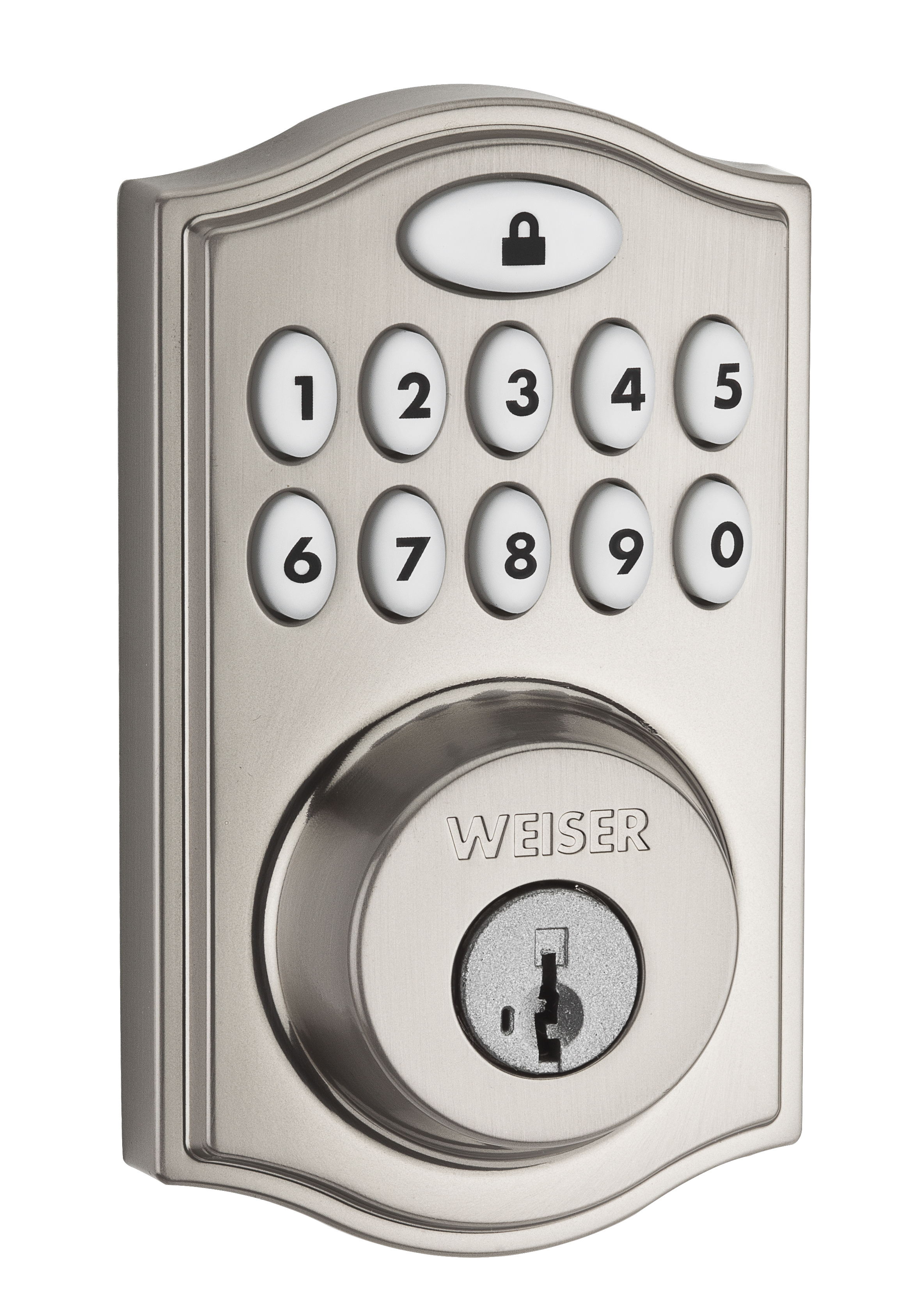 Smartcode 10 Traditional With Z Wave Electronics Electronic Lock Residential Locks Satin Nickel