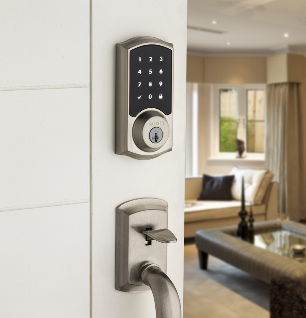 Smartcode 10 Touch Electronic Lock Satin Nickel