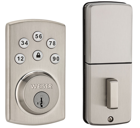Powerbolt<sup>2</sup> electronic deadbolt in satin nickel