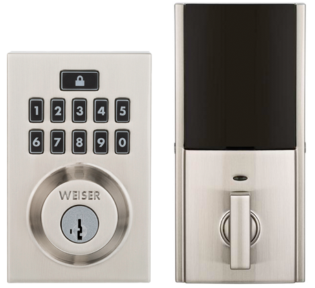 SmartCode 10 contemporary electronic deadbolt in satin nickel